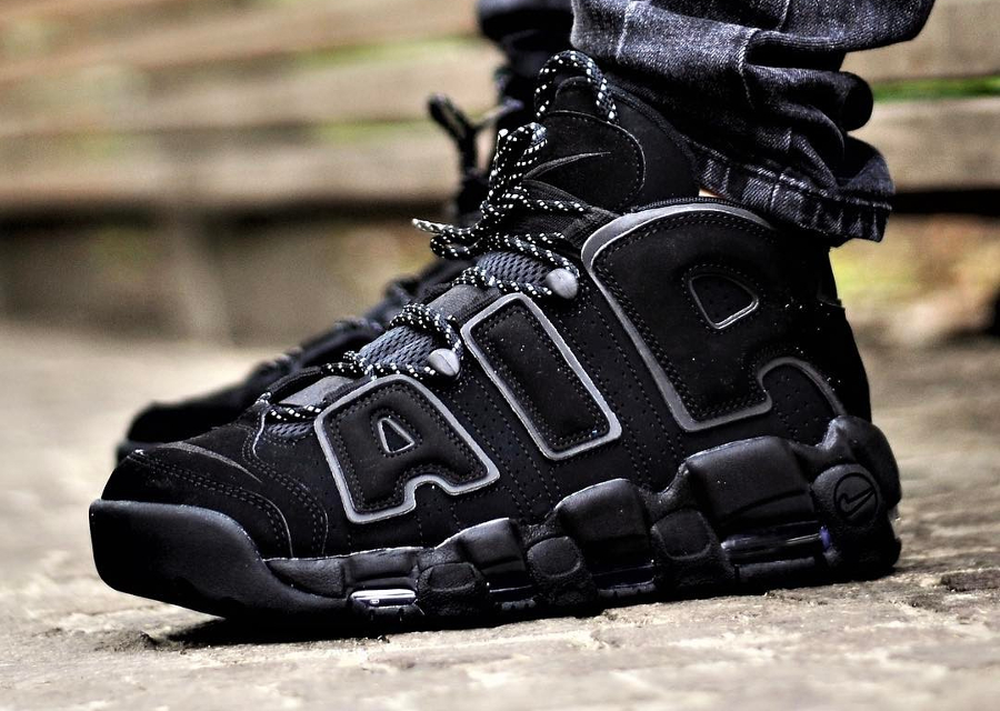 Basket Nike Air More Uptempo 'Triple Black' (3-1)