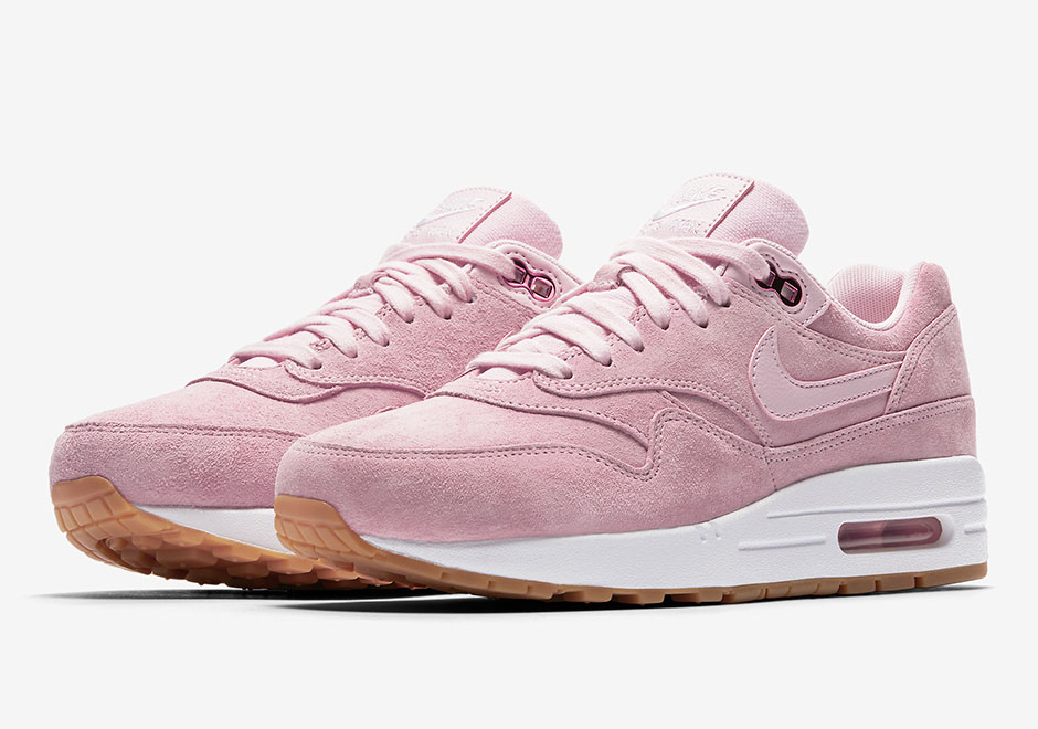 Basket Nike Wmns Air Max 1 Pink Suede (1)