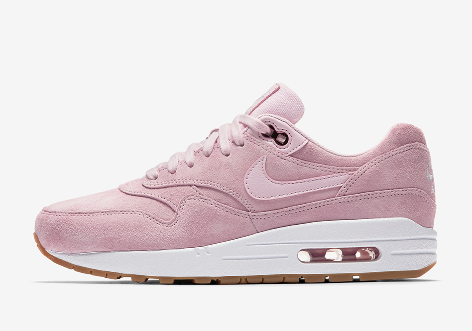 Basket Nike Wmns Air Max 1 Pink Suede (2)