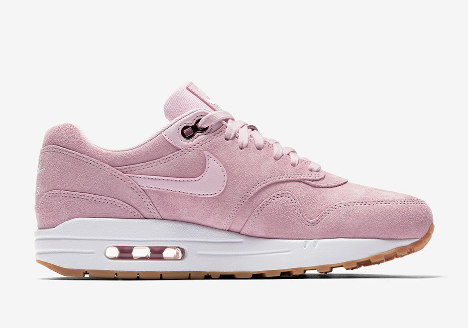 Basket Nike Wmns Air Max 1 Pink Suede (3)