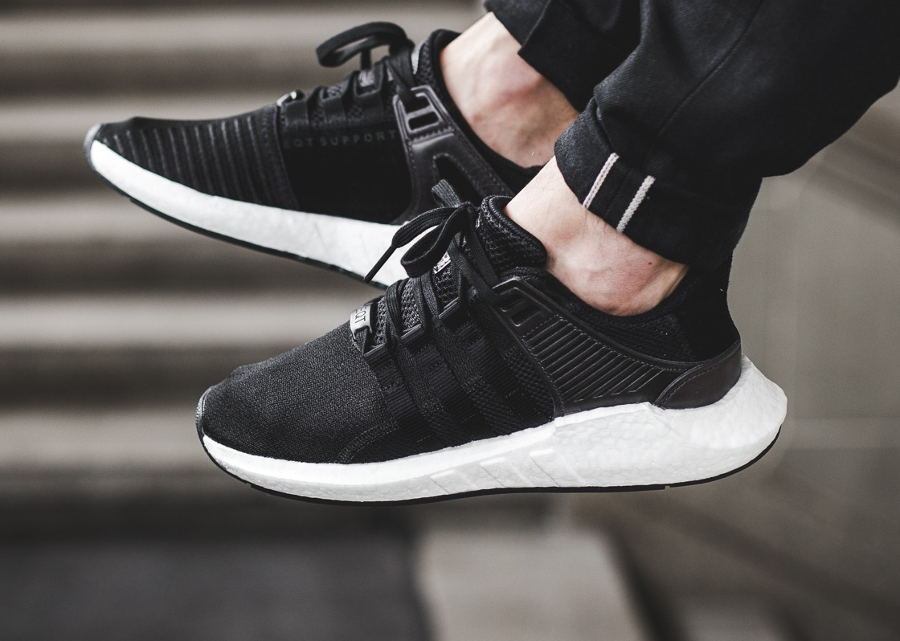 Chaussure Adidas EQT Support 93 17 Boost Noire Milled Leather Pack (homme) (5)