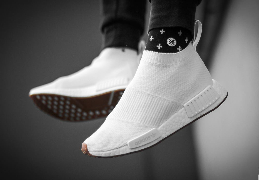 Chaussure Adidas NMD CS1 City Sock Gum Pack Blanche