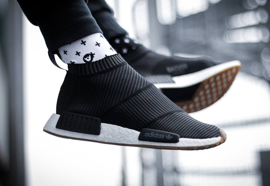 Chaussure Adidas NMD CS1 City Sock Gum Pack Noire