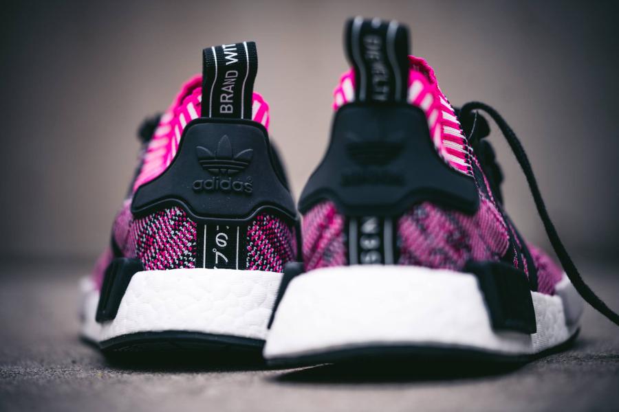 Chaussure Adidas NMD_R1 Primeknit Rose Shock Pink (femme) (2)