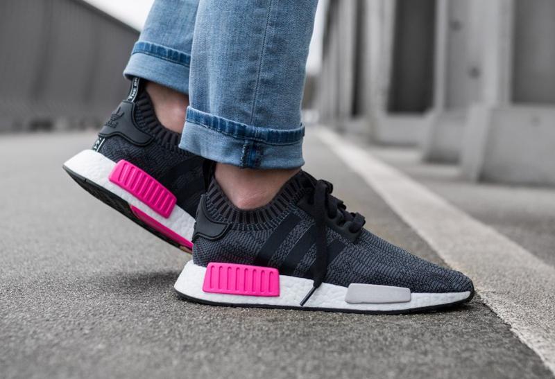 Adidas NMD_R1 Primeknit 'Glitch Camo' Shock Pink (femme)