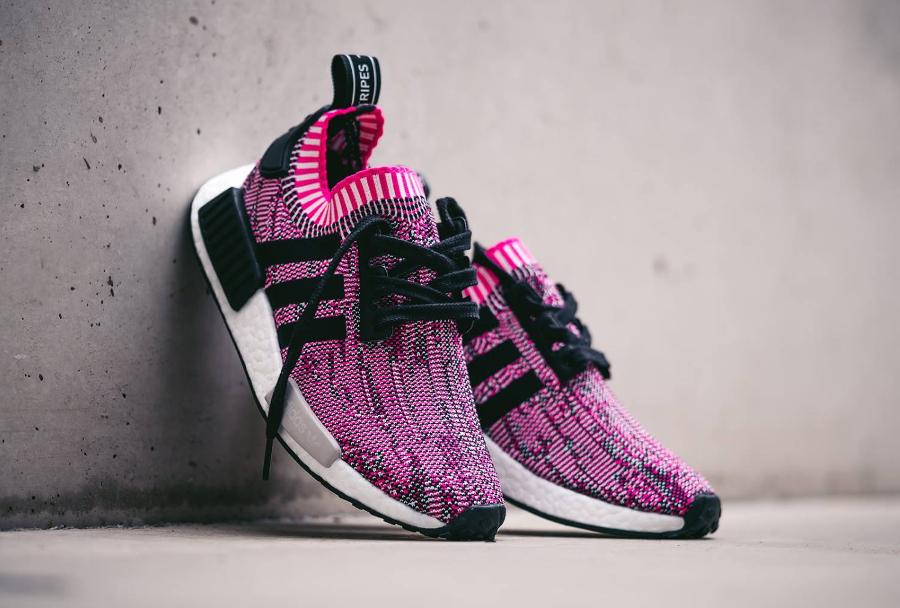 Chaussure Adidas NMD_R1 Primeknit Rose Shock Pink (femme) (4)