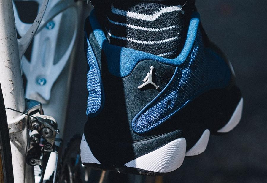 Chaussure Air Jordan 13 XIII Retro Low OG Brave Blue 2017 (1)
