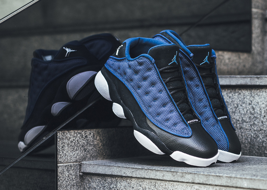 Chaussure Air Jordan 13 XIII Retro Low OG Brave Blue 2017