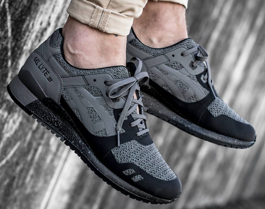 Chaussure Asics Gel Lyte 3 III NS No Sew Carbon Black (3)