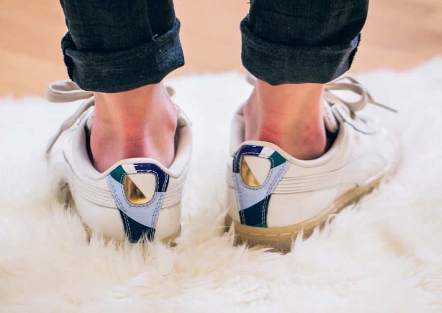 Chaussure Careaux x Puma Basket Whisper Whiste (beige) (2)
