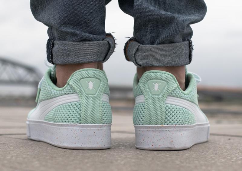 Chaussure Daily Paper x Puma Basket Knit Splat Gossamer Green (vert menthe) (2)