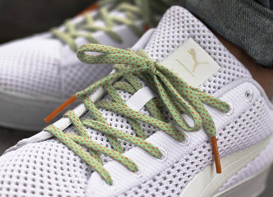 Chaussure Daily Paper x Puma Basket Platform Knitsplat White (blanche) (1)
