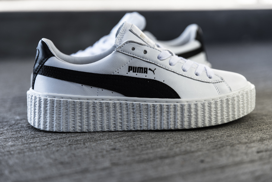 puma suede creepers blanche