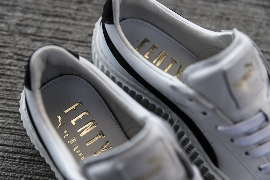 Chaussure Fenty Rihanna x Puma Suede Creeper Wrinkled Leather blanche (3)