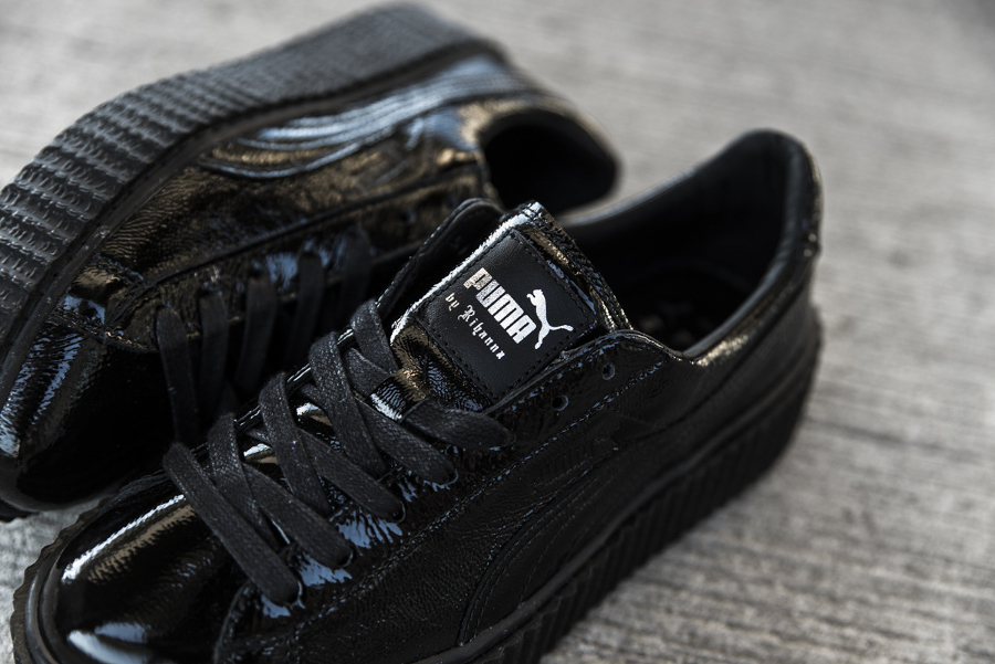 Chaussure Fenty Rihanna x Puma Suede Creeper Wrinkled Leather noir (2)