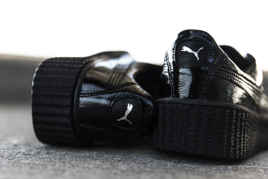 Chaussure Fenty Rihanna x Puma Suede Creeper Wrinkled Leather noir (3)