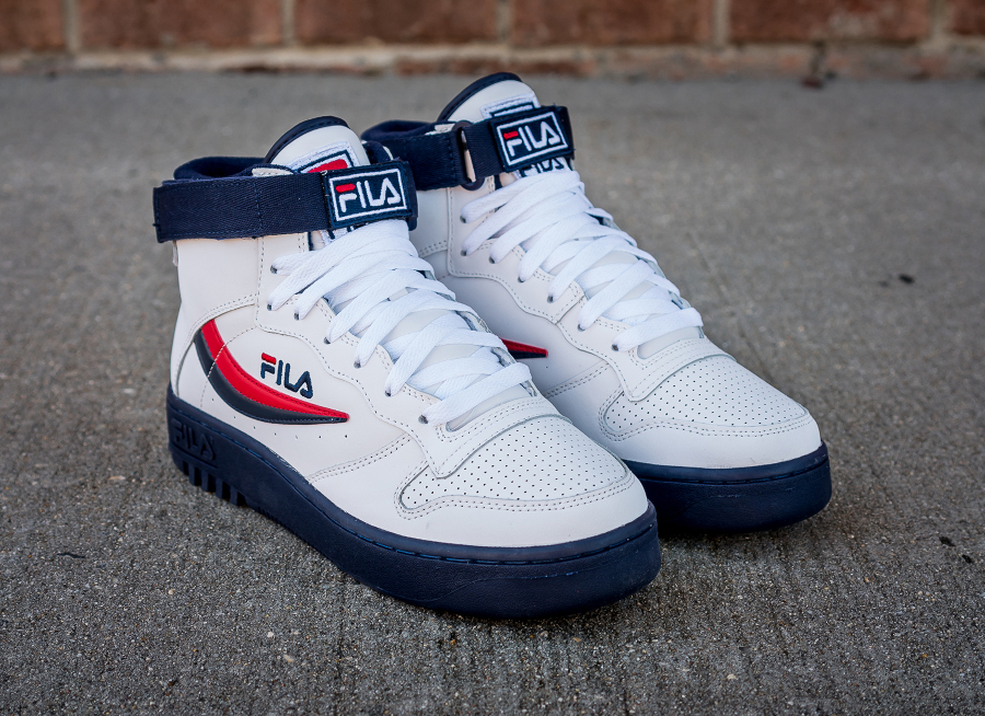 Chaussure Fila FX 100 Mid White Dress Blue (4)