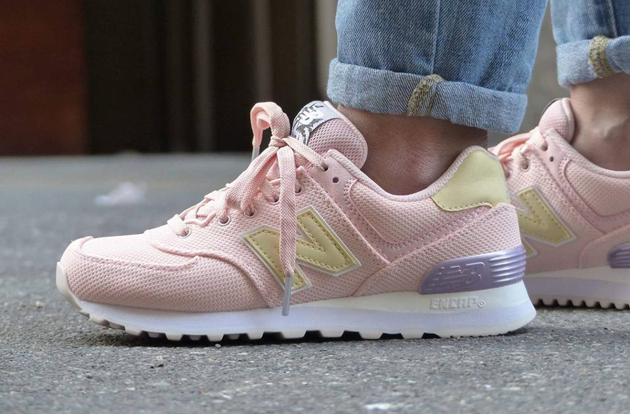 Chaussure New Balance WL574MIB Rose Miami Palms (3)