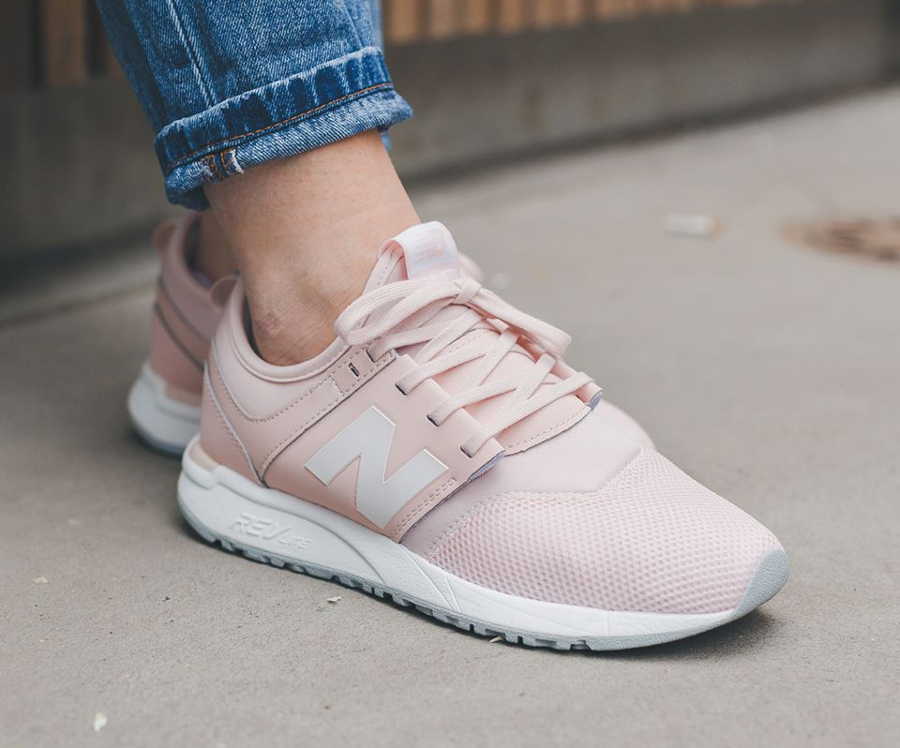 basket new balance femmes rose