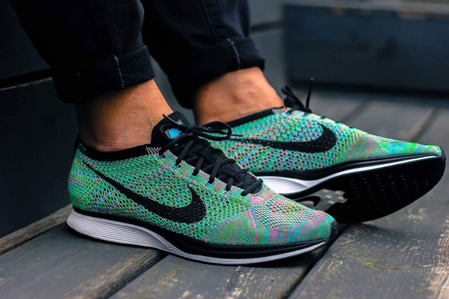 Chaussure Nike Flyknit Racer Rainbow Multicolor 2.0 2017 (1)