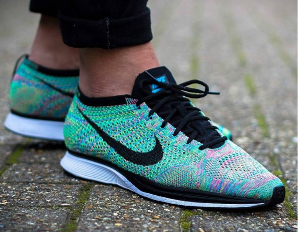 Chaussure Nike Flyknit Racer Rainbow Multicolor 2.0 2017 (2)
