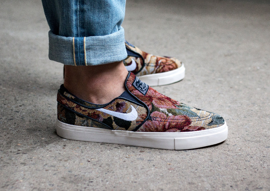 Chaussure Nike SB Janoski Slip On PRM Floral Grandma's Couch (2)