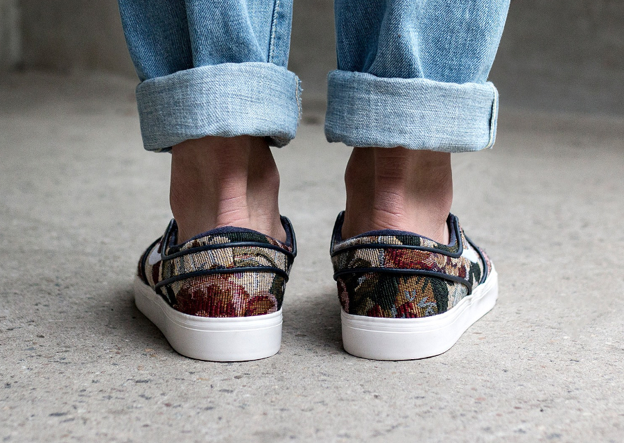 Chaussure Nike SB Janoski Slip On PRM Floral Grandma's Couch (3)