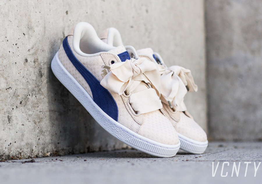 Puma Basket Heart Satin Denim W 'Oatmeal'