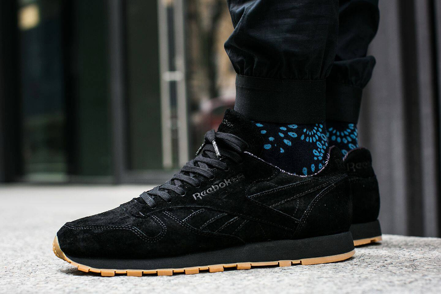 Chaussure Reebok Classic CL Leather Paisley noir (1)