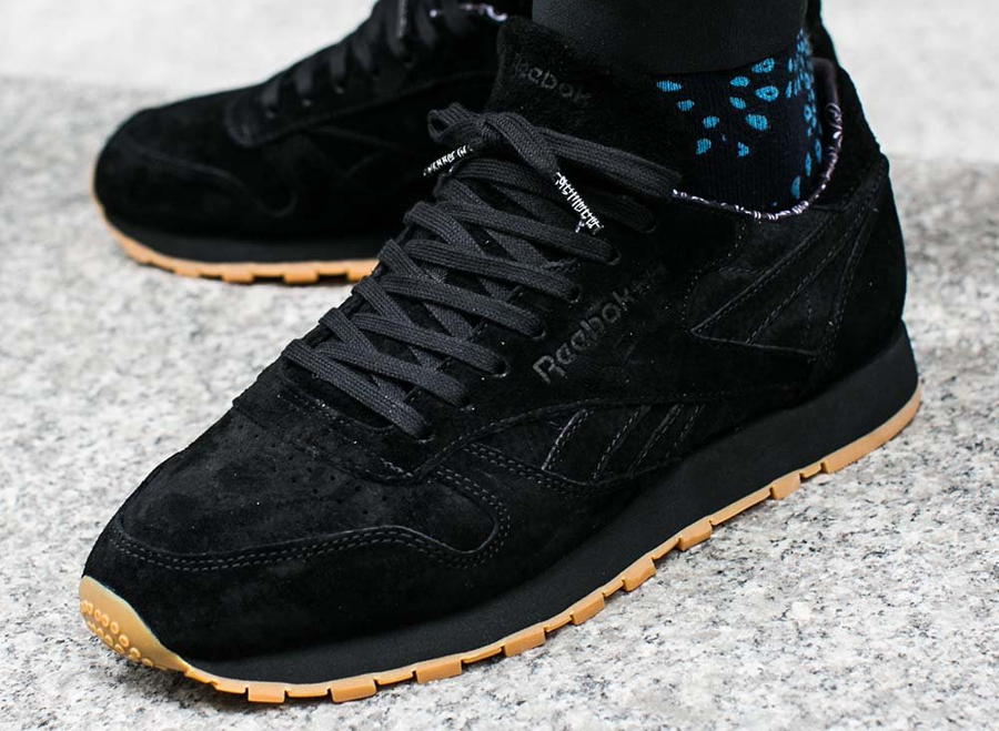 Chaussure Reebok Classic CL Leather Paisley noir (2)
