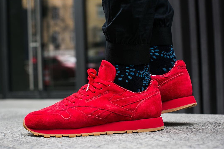 Chaussure Reebok Classic CL Leather Rouge Paisley Gum Pack (1)