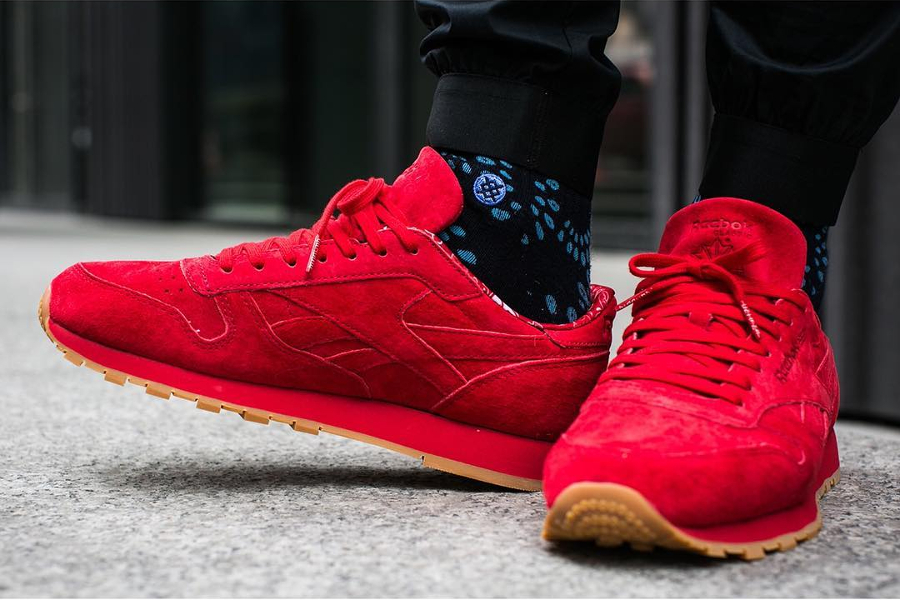 Chaussure Reebok Classic CL Leather Rouge Paisley Gum Pack (2)