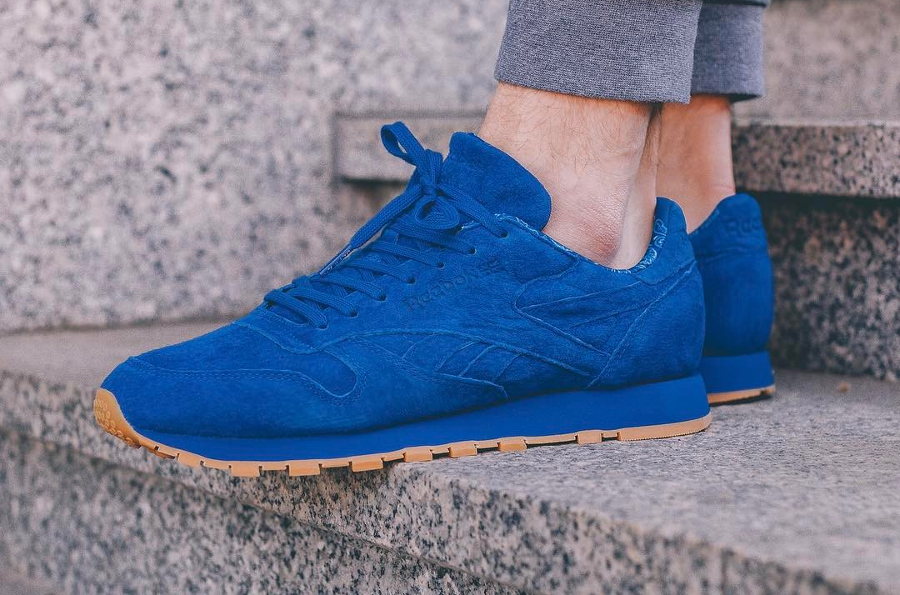 Chaussure Reebok Classic CL Leather bleu Paisley (1)
