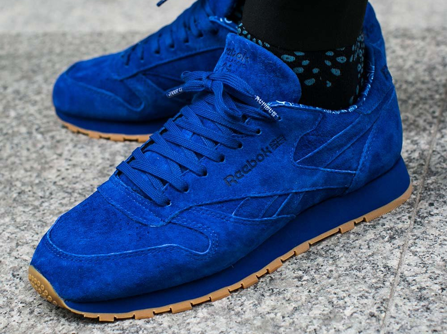 Chaussure Reebok Classic CL Leather bleu Paisley (2)