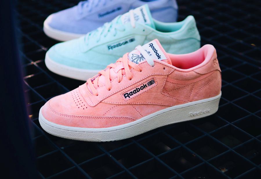 Chaussure Reebok Club C 85 Pastels Rose Desert Stone (1)