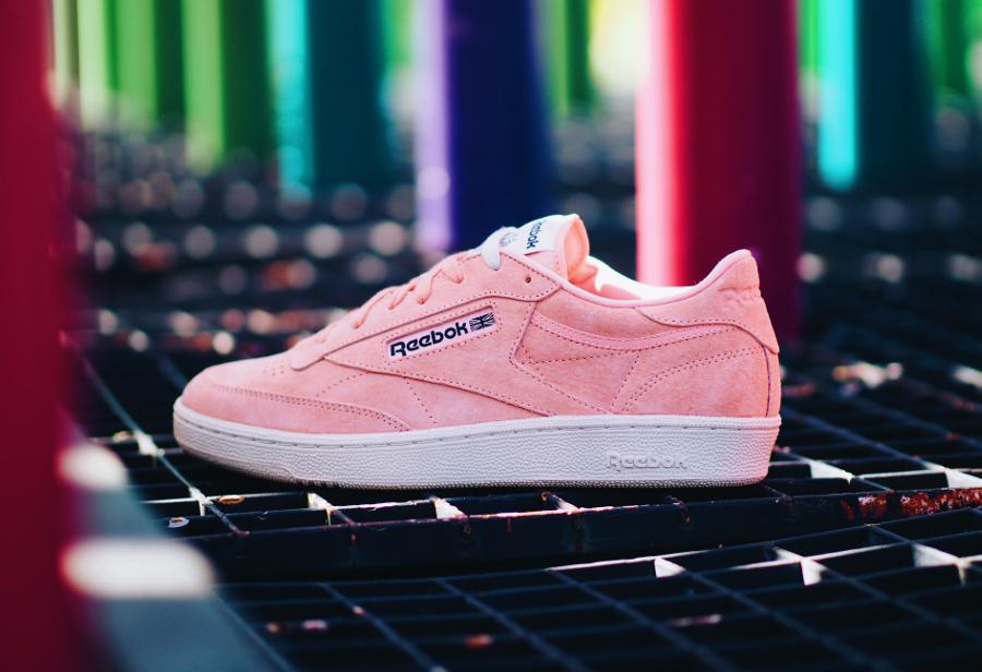 Chaussure Reebok Club C 85 Pastels Rose Desert Stone (2)