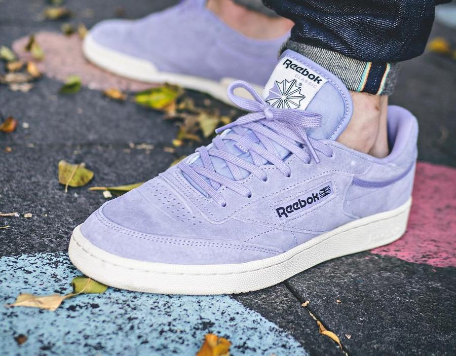 Chaussure Reebok Club C 85 Suede 'Pastel' Lavender Moon Violet (daim lavande) (1)