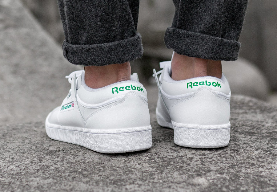 Chaussure Reebok Club C 85 Workout FMU Blanche Glen Green (2)