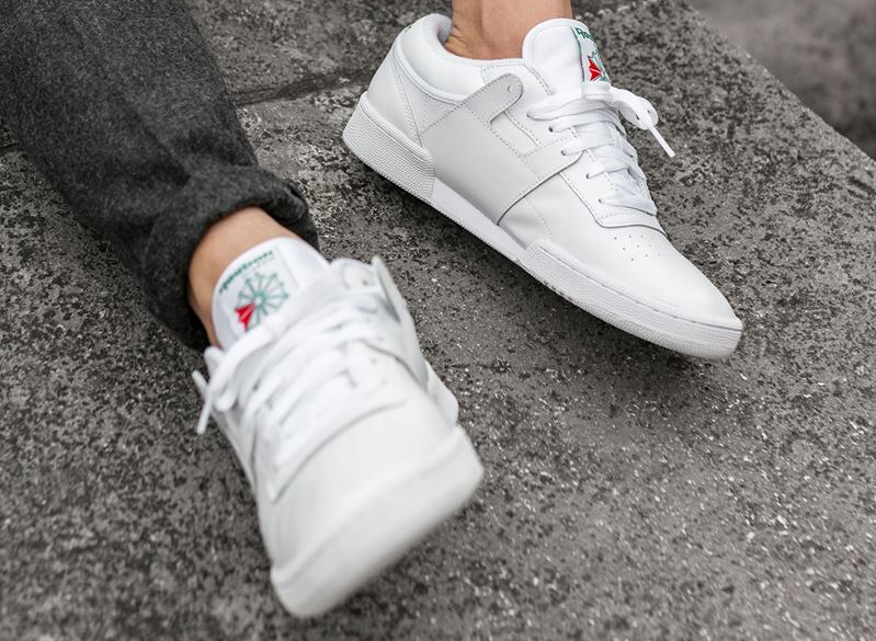 Chaussure Reebok Club C 85 Workout FMU Blanche Glen Green (3)