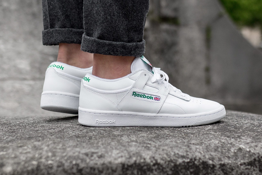 Chaussure Reebok Club C 85 Workout FMU Blanche Glen Green (4)