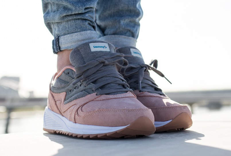 Chaussure Saucony Grid 8000 Charcoal Salmon (Jersey Pack) (3)
