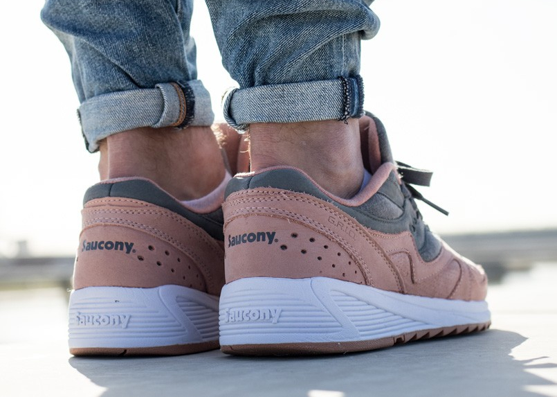 Chaussure Saucony Grid 8000 Charcoal Salmon (Jersey Pack) (4)