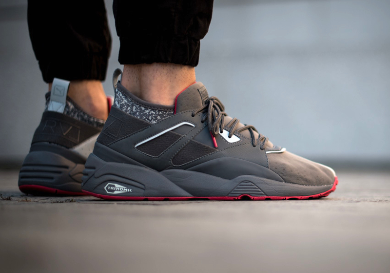 Chaussure Staple x Puma BOG Sock NTRVL Glacier Gray (4)