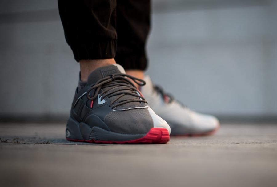 Chaussure Staple x Puma BOG Sock NTRVL Glacier Gray (5)