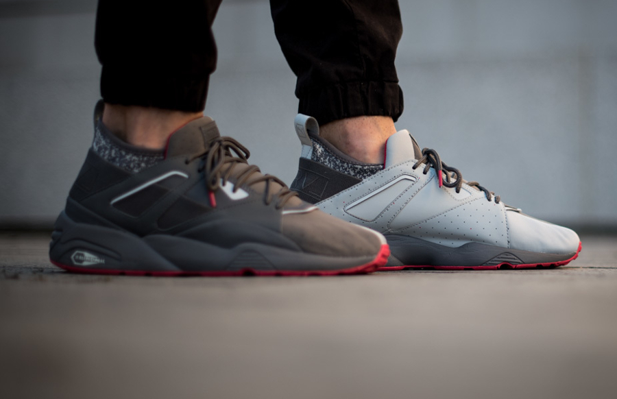 Chaussure Staple x Puma BOG Sock NTRVL Glacier Gray (6)