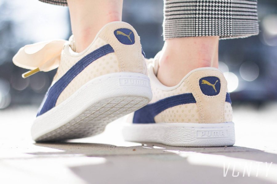 Chaussure Puma Basket Heart (gros lacets) Denim Oatmeal