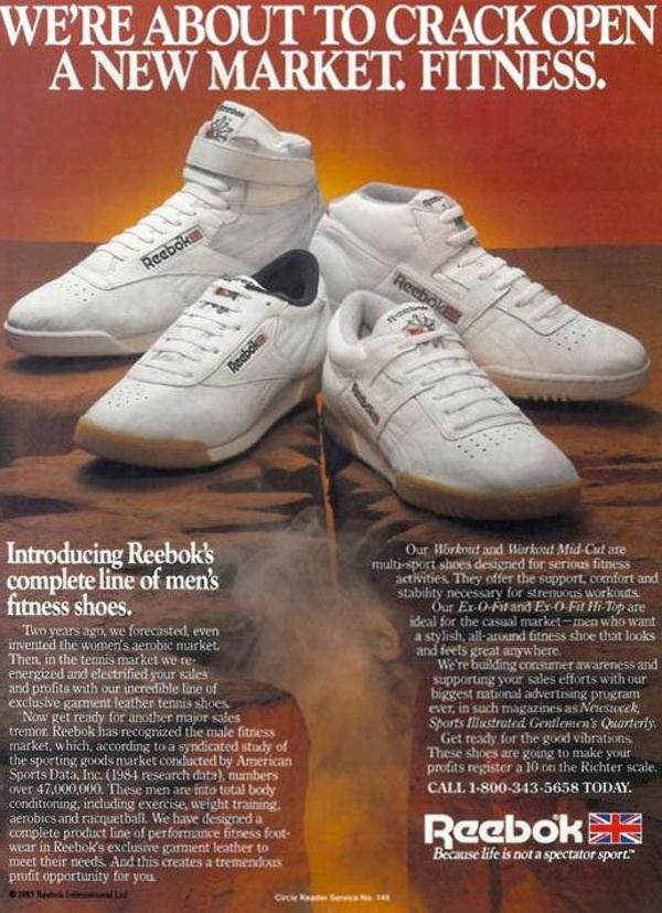 Reebok Exofit vintage publicit&