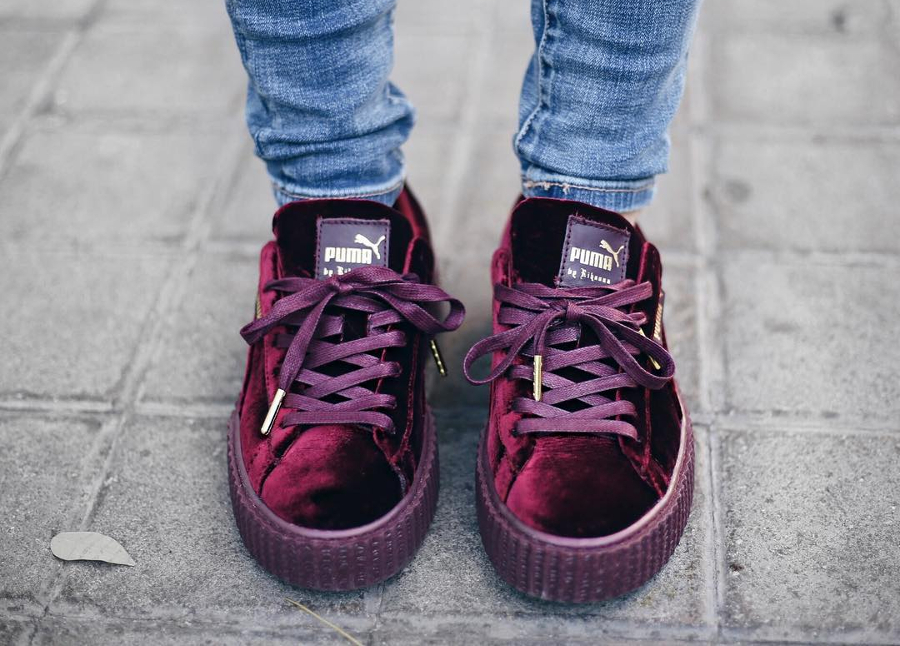 Rihanna x Puma Creeper Velvet Purple Royal - @lulandco
