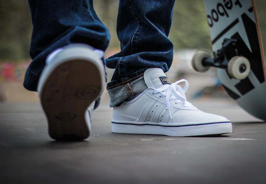 Basket Adidas Busenitz Vulc ADV blanche White Navy (4)