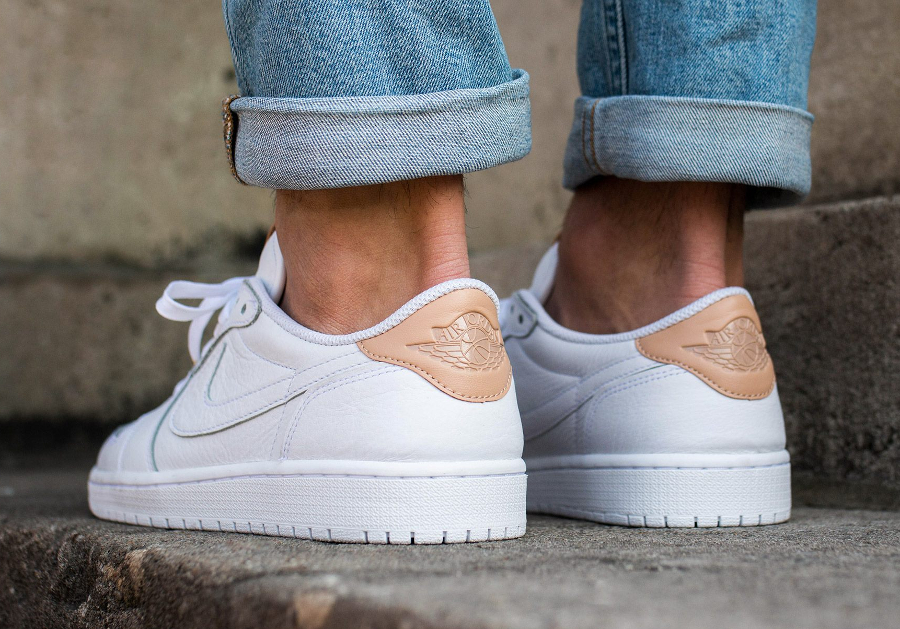 Basket Air Jordan 1 Retro Low Premium White Vachetta Tan (2)